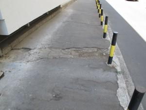 Uništen asfalt kod Maksija (preko puta Narodnih heroja 24)