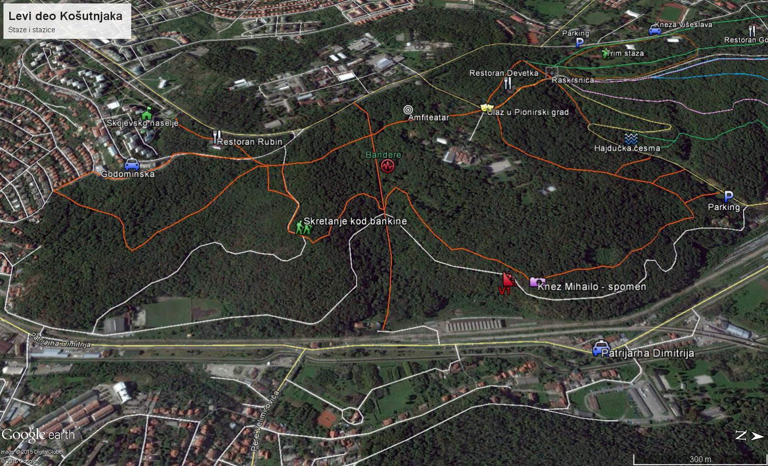 Mapa Beograda Kosutnjak Superjoden