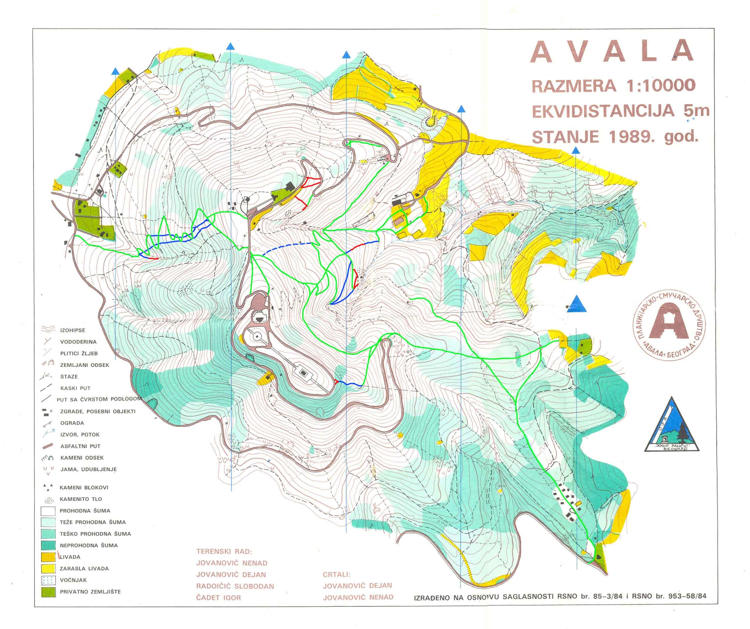 mapa beograda avala Duletov blog | Avala peške, biciklom, autobusom ili kolima mapa beograda avala