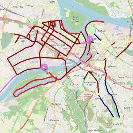Mapa svih biciklističkih staza i traka u Beogradu